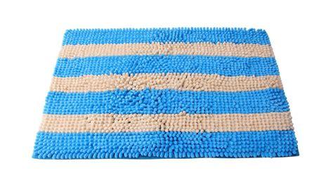 Teppich Hellblau Weiß