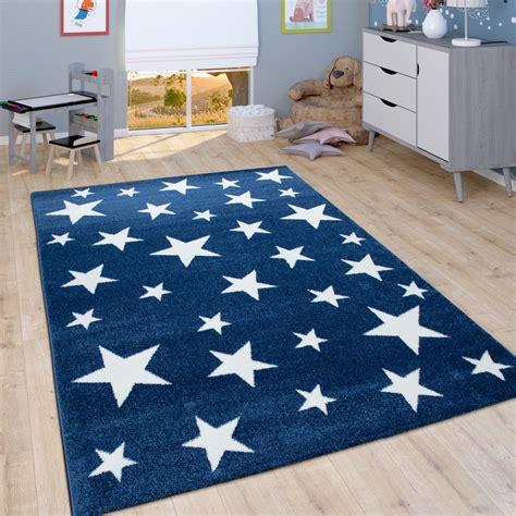 Teppich Kinderzimmer Blau Stern