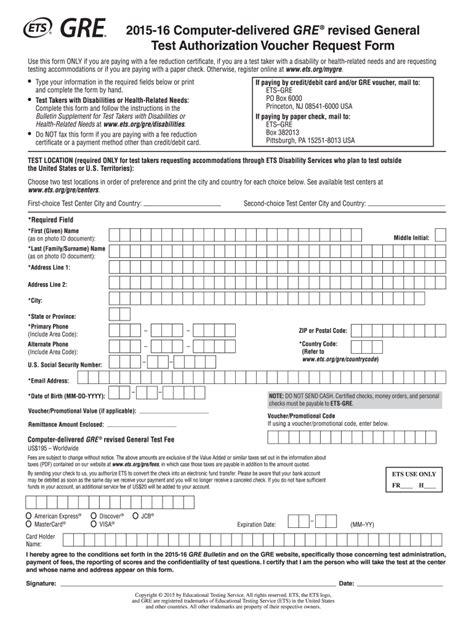 Credit Card Authorization Form Australia Test Authorization Voucher Request Form Ets Home