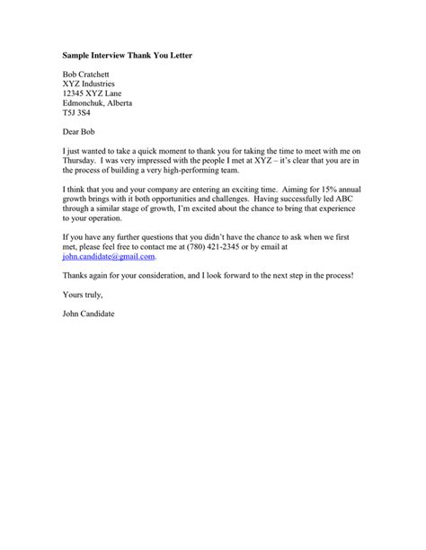 thank you letter panel interview format a curriculum vitae