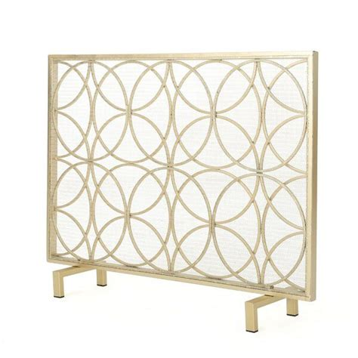 Thayer Single Panel Iron Fireplace Screen