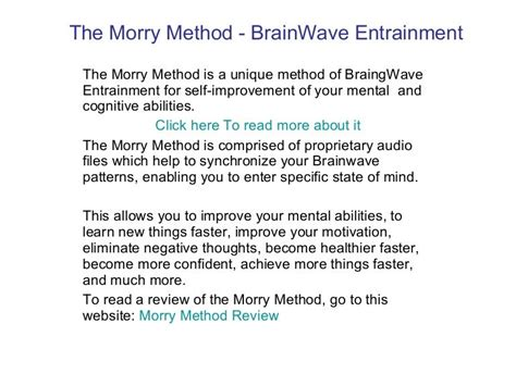 [pdf] The Only The Morry Method Brainwave Entrainment .