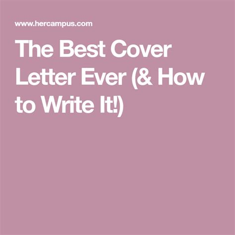 write best resume ever the best resume ever how to write it her campus