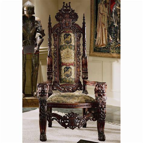 The Lord Raffles Lion Throne Fabric Armchair