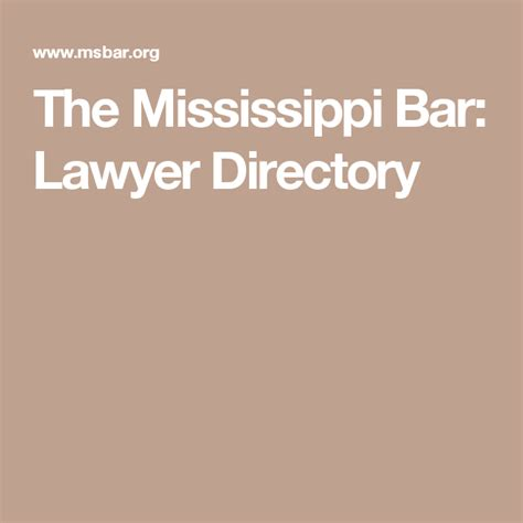 Kid Lawyer Online The Mississippi Bar Lawyer Directory
