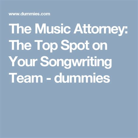 Contract Attorney Hourly Rate San Francisco The Music Attorney The Top Spot On Your Dummies