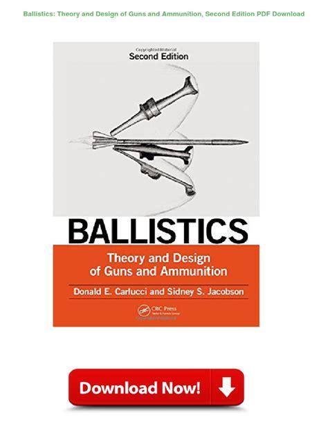 Ammunition Theory And Design Of Guns And Ammunition Pdf.