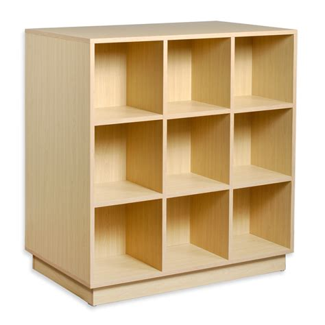 Thiessen 9-Cubby Wooden Storage Organizer Cubes Unit Bookcase