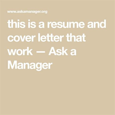 resume vs cover letter difference this is a resume and cover letter that work ask a - Cover Letter Vs Resume