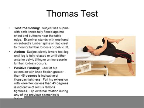 thomas hip flexor testing clip art