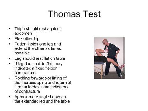 thomas test hip flexor length testing mom
