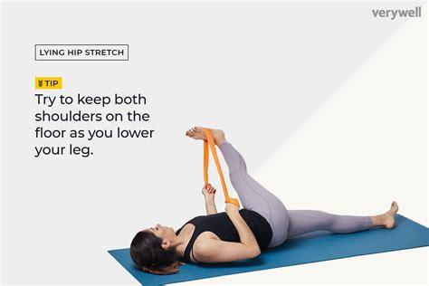 thompson stretch for hip flexor exercise illustrations hook-lying