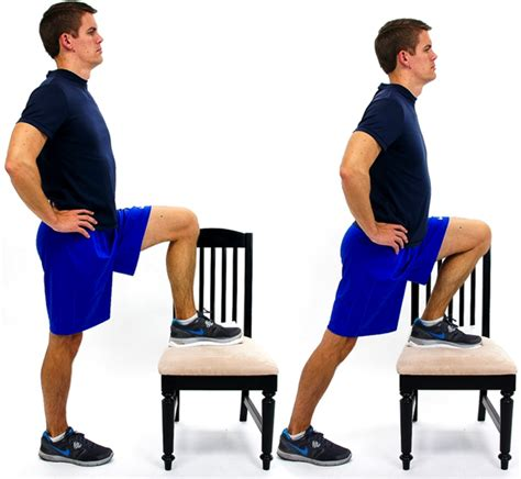 thompson stretch for hip flexor exercises with chair