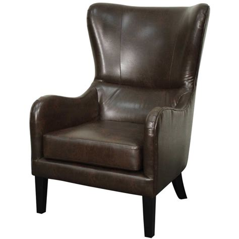 Thornley Bonded Leather Wing back chair