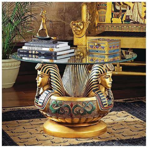 Three Heads Of Tutankhamen Sculptural Coffee Table