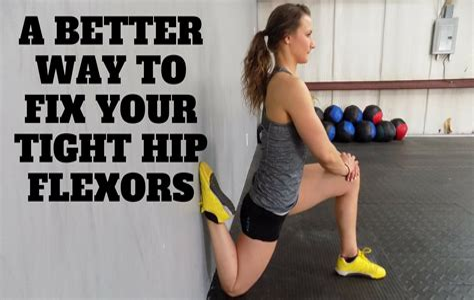 tight hip flexor problems in athlete's foot
