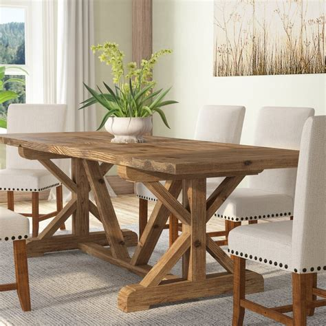 Tim  Extendable  Solid Wood  Dining Table