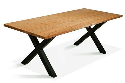 Tisch Holz X Beine