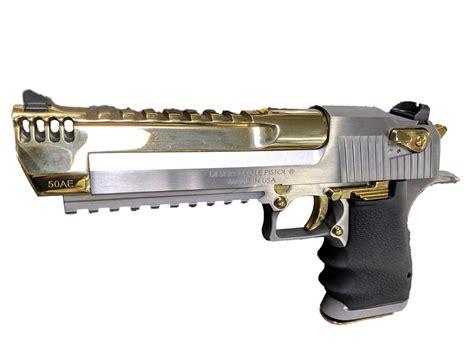 Desert-Eagle Titanium Gold Desert Eagle Mark Xix Pistol.