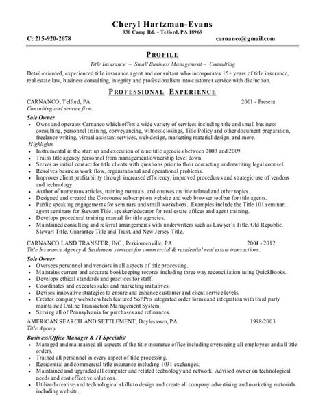 title insurance resume examples resume summary example out of