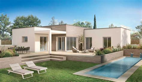 Toit Terrasse En Kit Maison Bois Moderne 3 Chambres Toit Plat