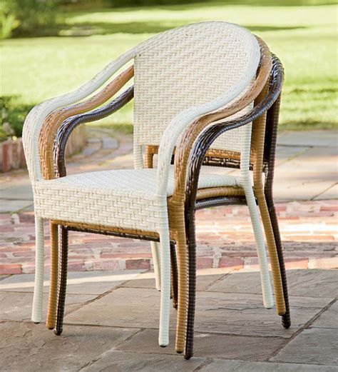 Tom Rattan Wicker Stool