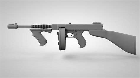Tommy-Gun Tommy Gun 3d Model.