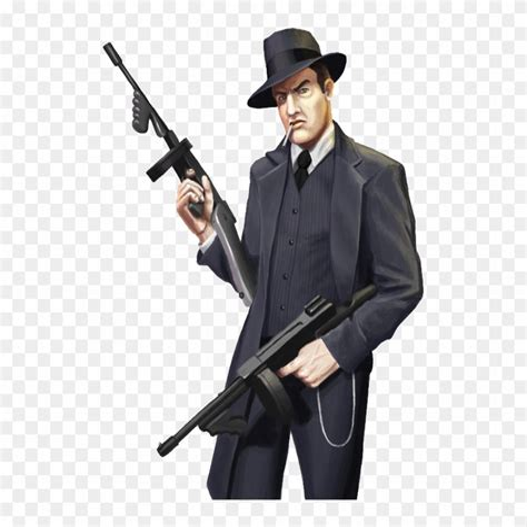 Tommy-Gun Tommy Gun Gangster Drawings.
