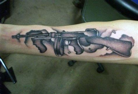 Tommy-Gun Tommy Gun Machine Tattoo.