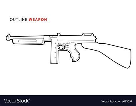 Tommy-Gun Tommy Gun Outline.