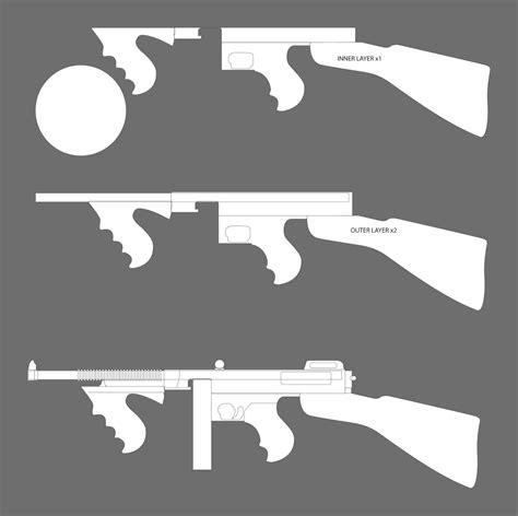 Tommy-Gun Tommy Gun Template.