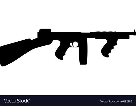 Tommy-Gun Tommy Gun Vector.