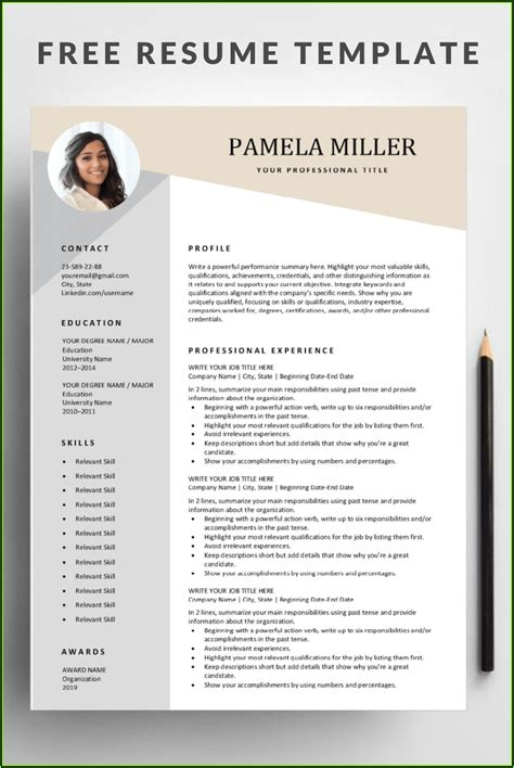 totally free resume templates free downloadable resume templates resume companion - Totally Free Resume Template