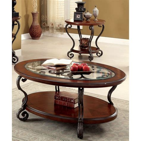 Traditional 2 Piece Coffee Table Set