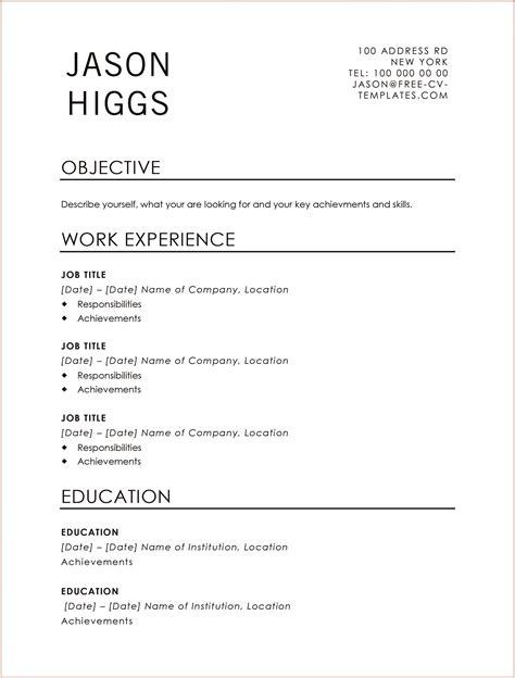 traditional resume templates microsoft word traditional resume templates to impress any employer