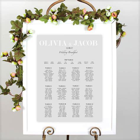 Traditional Wedding Table Plan