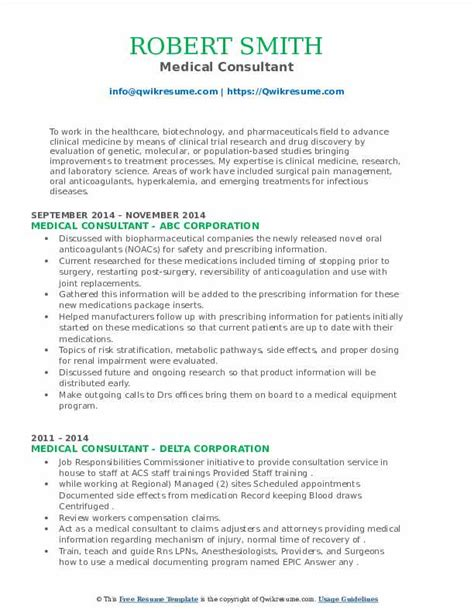 Training Consultant Resume Examples Medical Resume Examples Samples