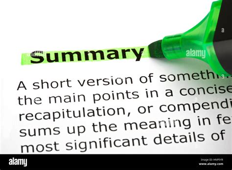 does your resume need a summary translations for summary definitions
