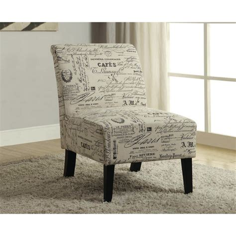 Travis French Script Fabric Side Chair