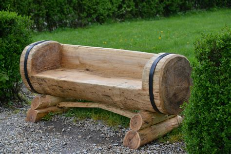 Tree Trunk Bench Plans