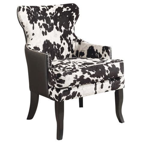 Tressie Cowhide Accent Chair