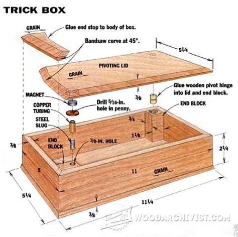 Trick Box Woodworking Plans