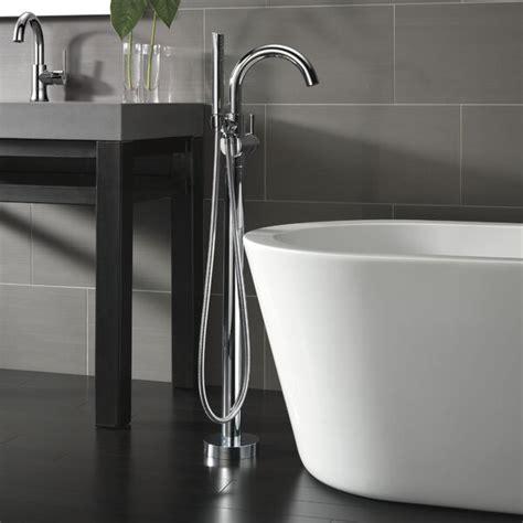 Trinsic® Single Handle Floor Mount Freestanding Tub Filler with Hand Shower