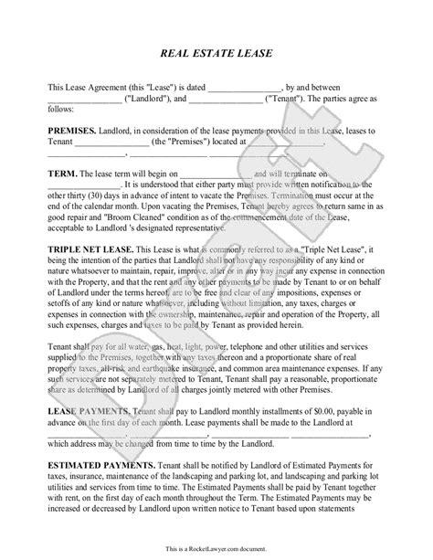 Commercial Lawyer Description Triple Net Lease Rocket Lawyer