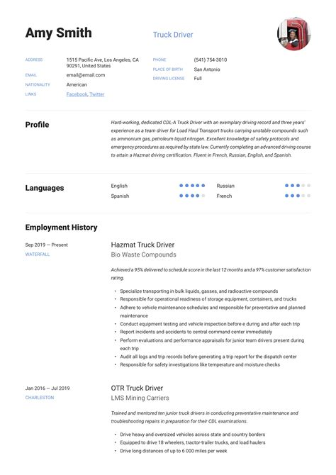 truck driver resume job description truck driver resume objective examples job description of truck driver