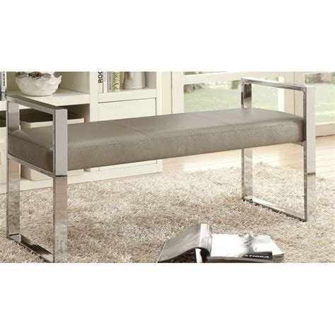 Trung Faux Leather Bench