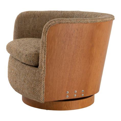 Tub Style Swivel Barrel Chair