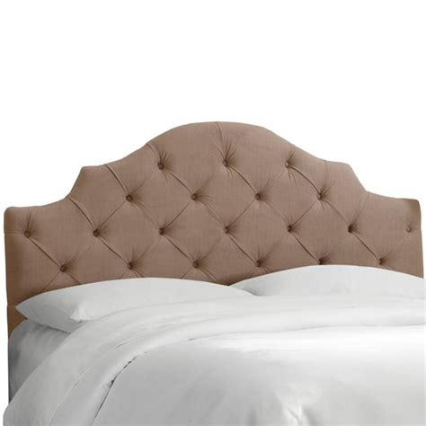 Tufted Notched Upholstered Panel Headboard