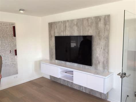 Tv Wand Xxl In Betonoptik Für Kunden In Solingen Tv Wall By
