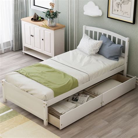 Twin Platform Bed by Forest Designs